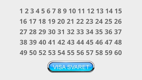 Ser du vilket nummer som saknas inom 10 sekunder är du ett geni