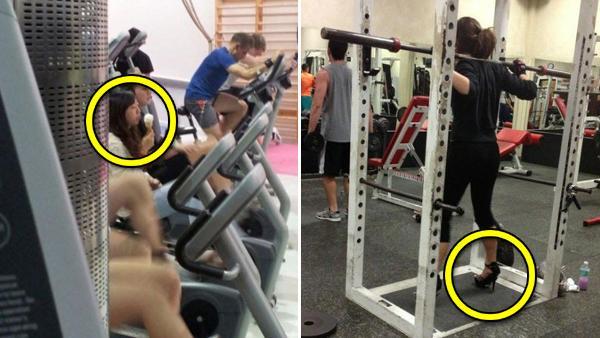 11 bilder som visar varför det är roligt att gå på gym - man får se så mycket konstiga saker där