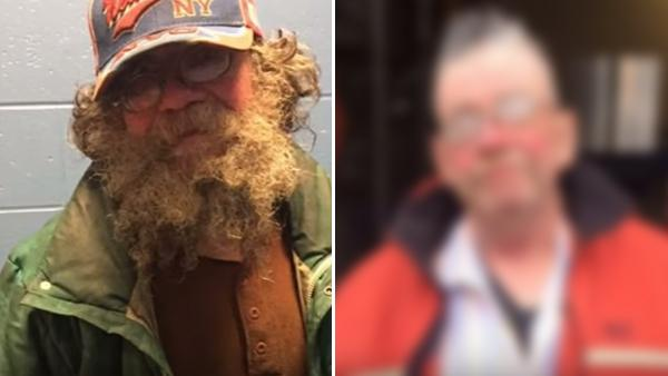 Den hemlösa mannen ville ha en dusch och fixa håret - du kan aldrig gissa vad poliserna gjorde då