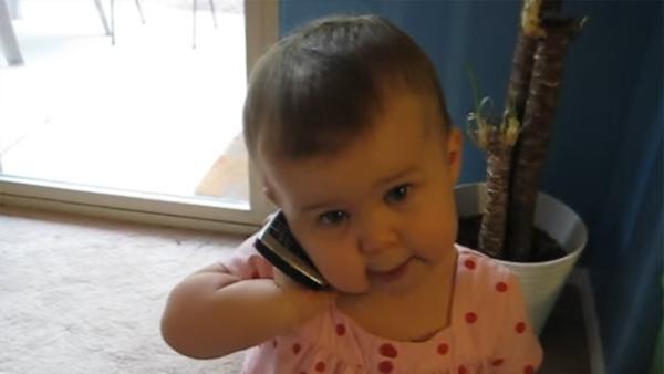 Dotterns svar till sin pappa i telefon har berört miljoner