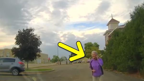 Polisen ser 92-åringen dansa på gatan - det som händer sen är helt fantastiskt
