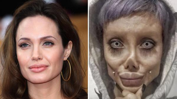 Hennes högsta önskan är att se ut som Angelina Jolie och hon har opererat sig 50 gånger - nu har hon blivit ett viralt fenomen