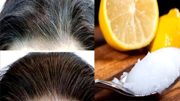 Två ingredienser från köket gör att grått hår får tillbaka sin naturliga färg